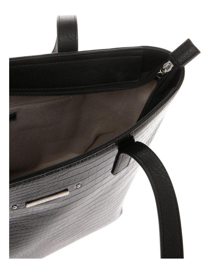 Allegra Double Handle Black Tote Bag image 4