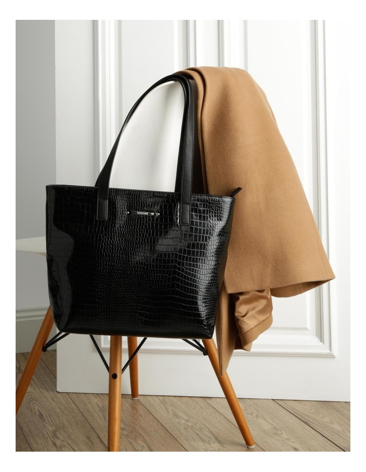 Allegra Double Handle Black Tote Bag image 5