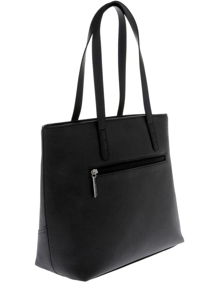 Delia Double Handle Black Tote Bag image 2