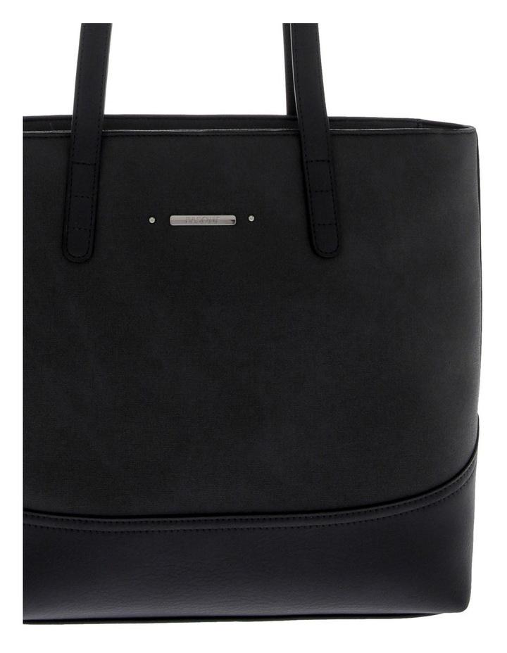 Delia Double Handle Black Tote Bag image 3