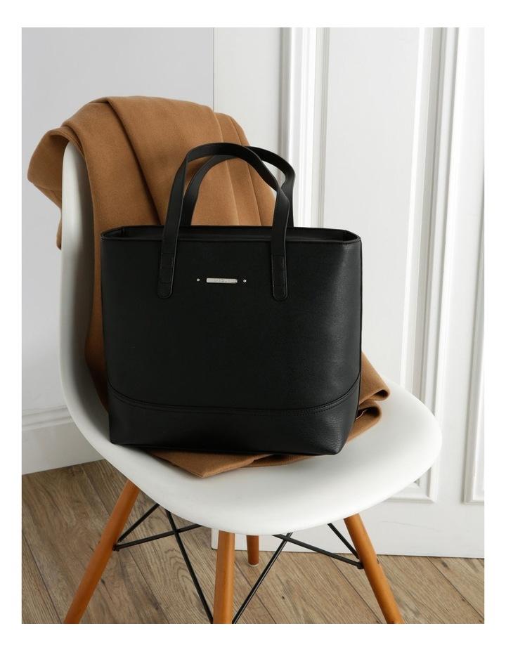 Delia Double Handle Black Tote Bag image 5