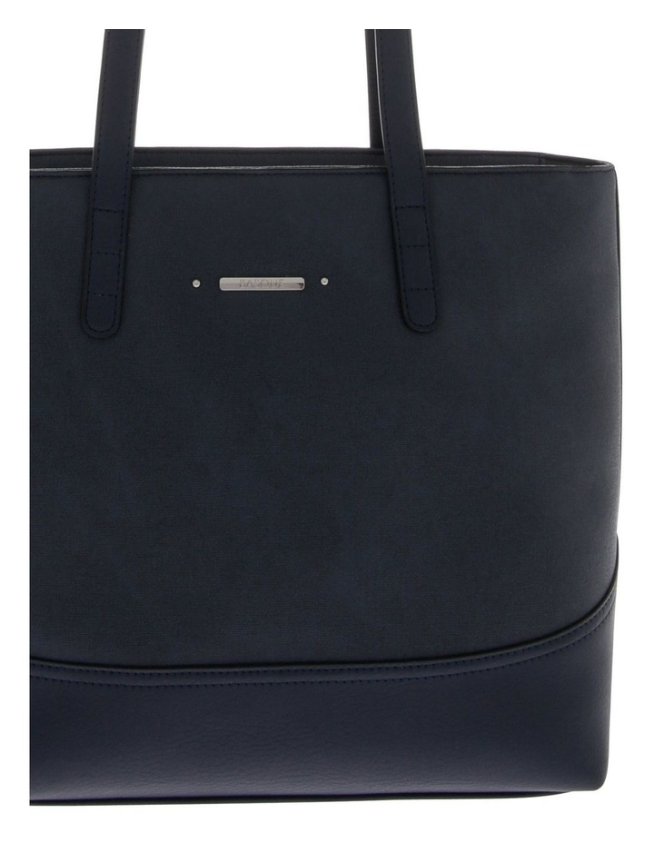 Delia Double Handle Navy Tote Bag image 3