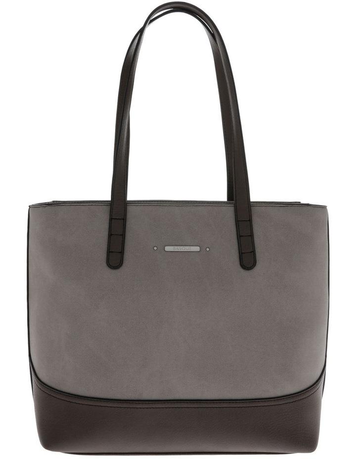 Delia Double Handle Grey Tote Bag image 1