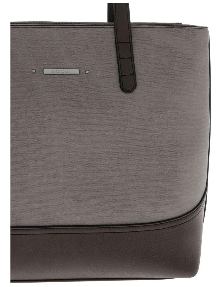 Delia Double Handle Grey Tote Bag image 3