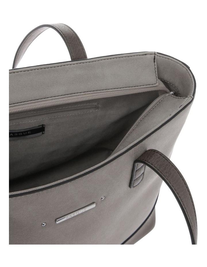 Delia Double Handle Grey Tote Bag image 4