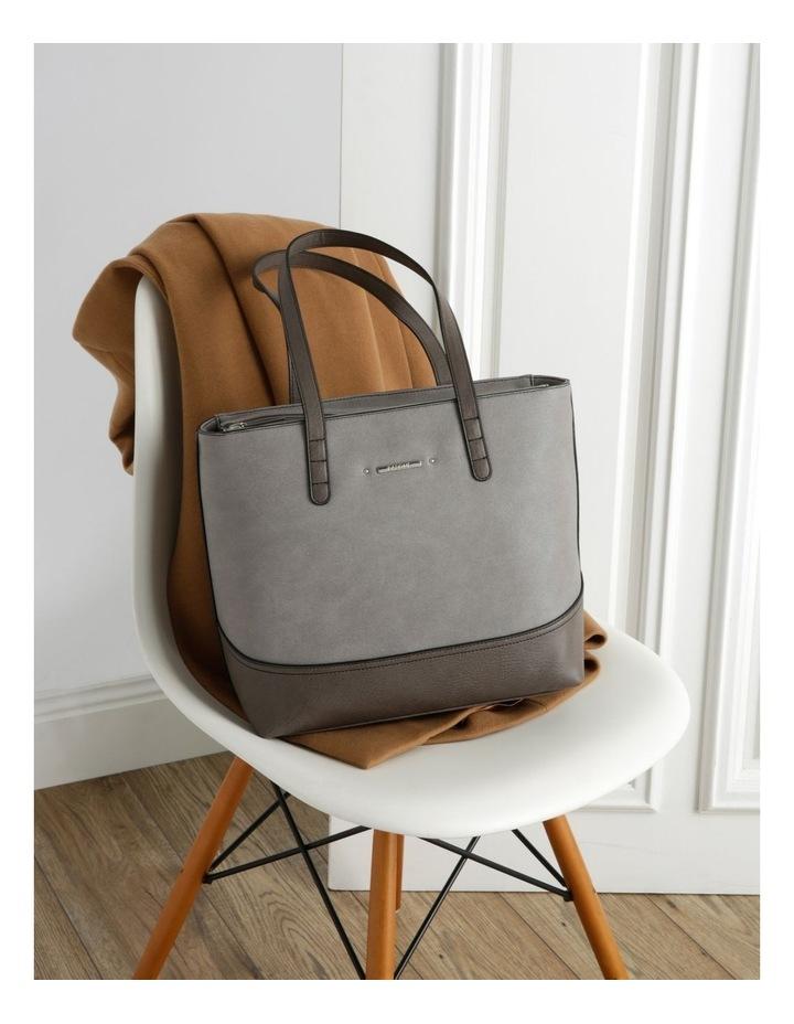 Delia Double Handle Grey Tote Bag image 5