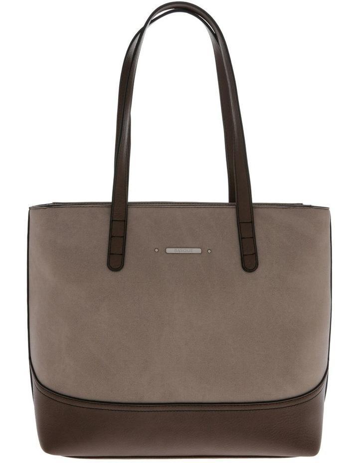 Delia Double Handle Taupe Tote Bag image 1