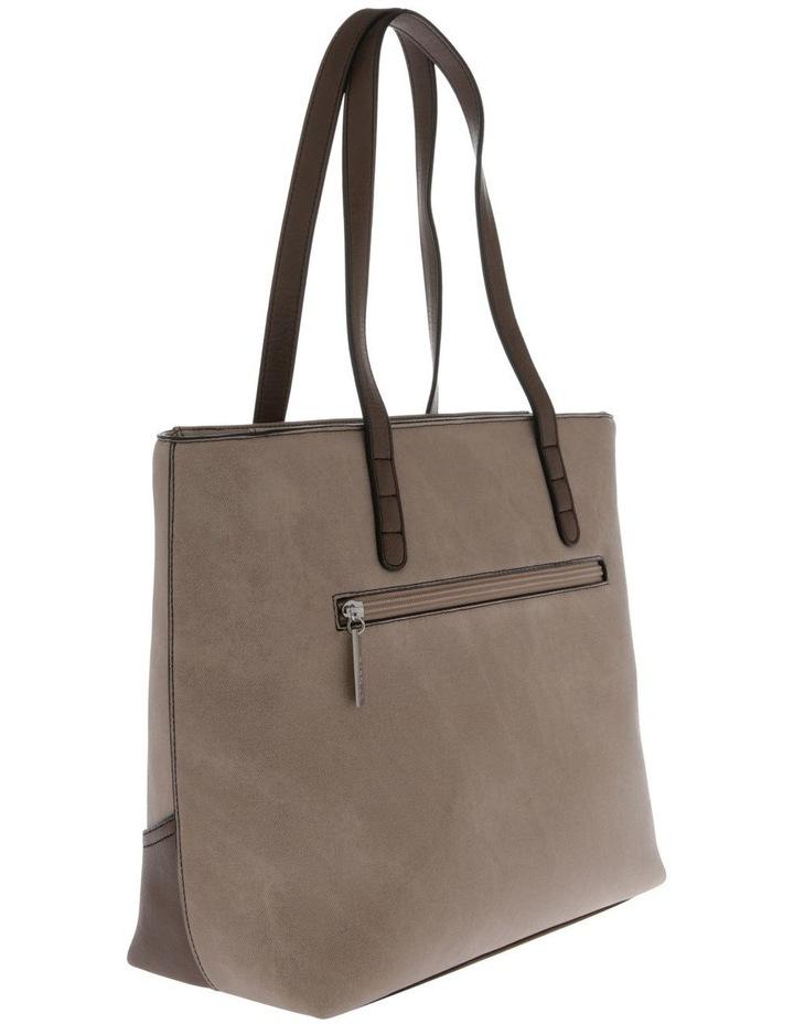Delia Double Handle Taupe Tote Bag image 2