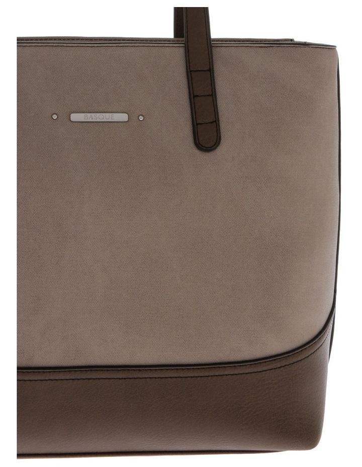 Delia Double Handle Taupe Tote Bag image 3
