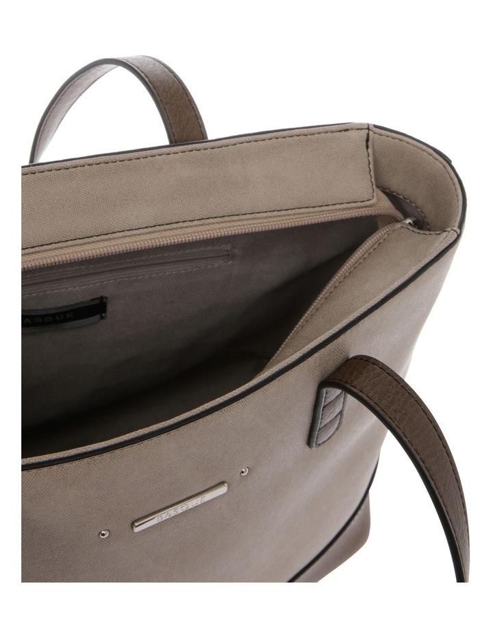 Delia Double Handle Taupe Tote Bag image 4