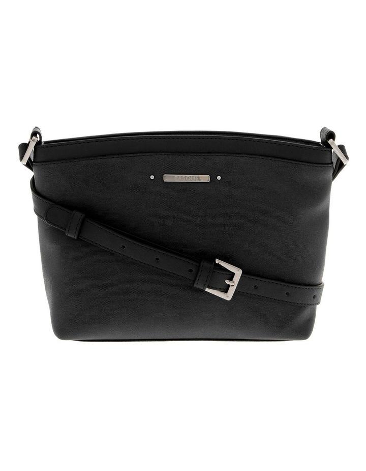 Delia Zip Top  Black Crossbody Bag image 1