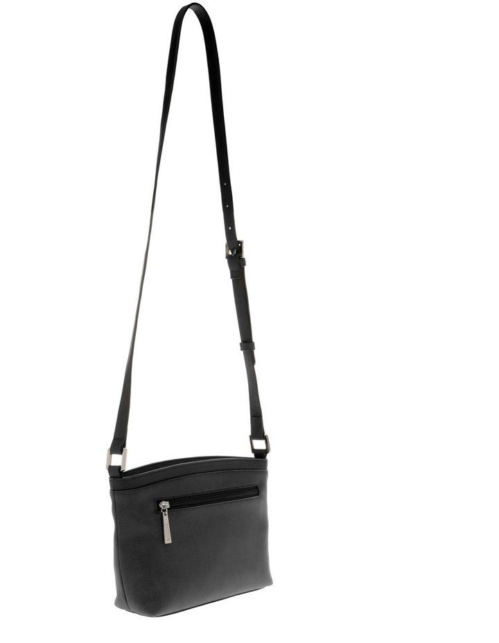 Delia Zip Top  Black Crossbody Bag image 2