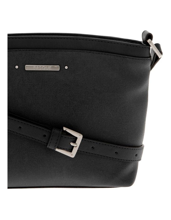 Delia Zip Top  Black Crossbody Bag image 3