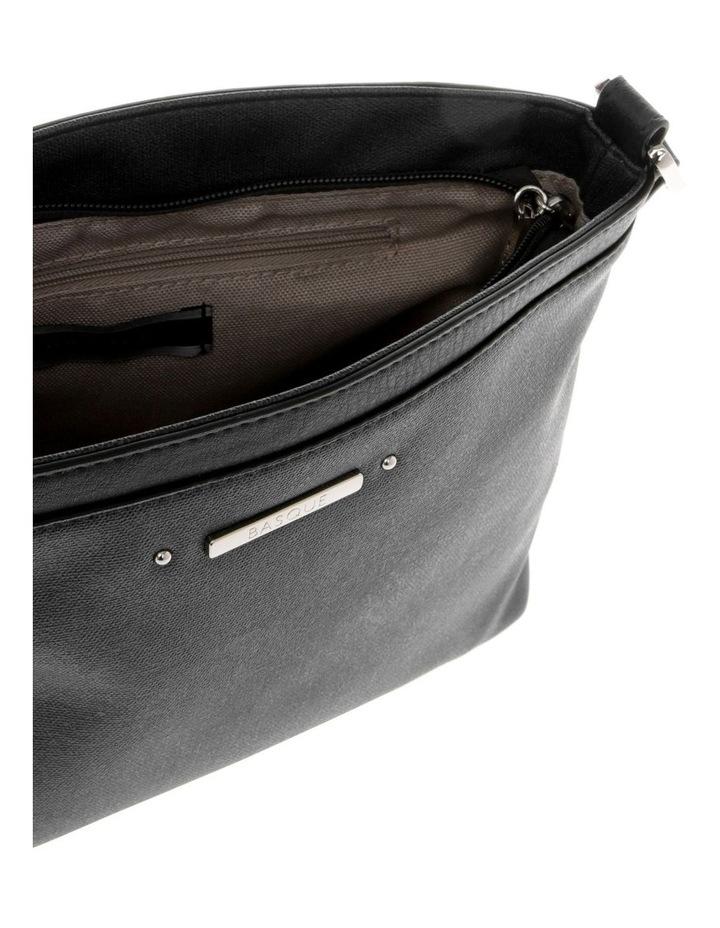 Delia Zip Top  Black Crossbody Bag image 4