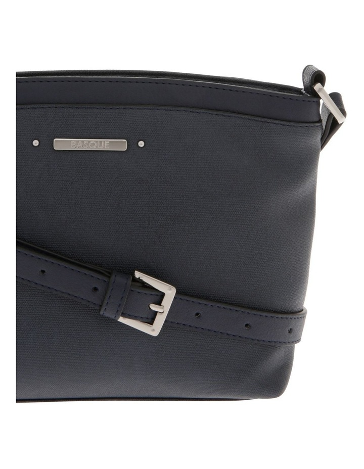 Delia Zip Top Navy Crossbody Bag image 3