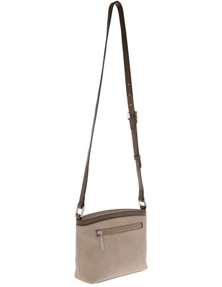 Delia Zip Top Taupe Crossbody Bag image 2