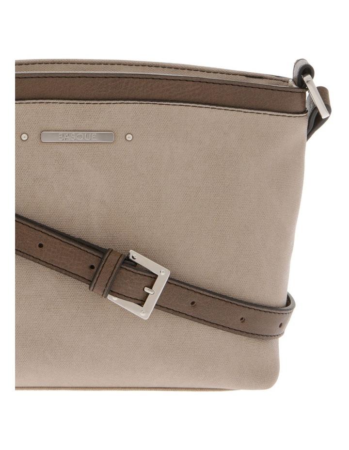 Delia Zip Top Taupe Crossbody Bag image 3