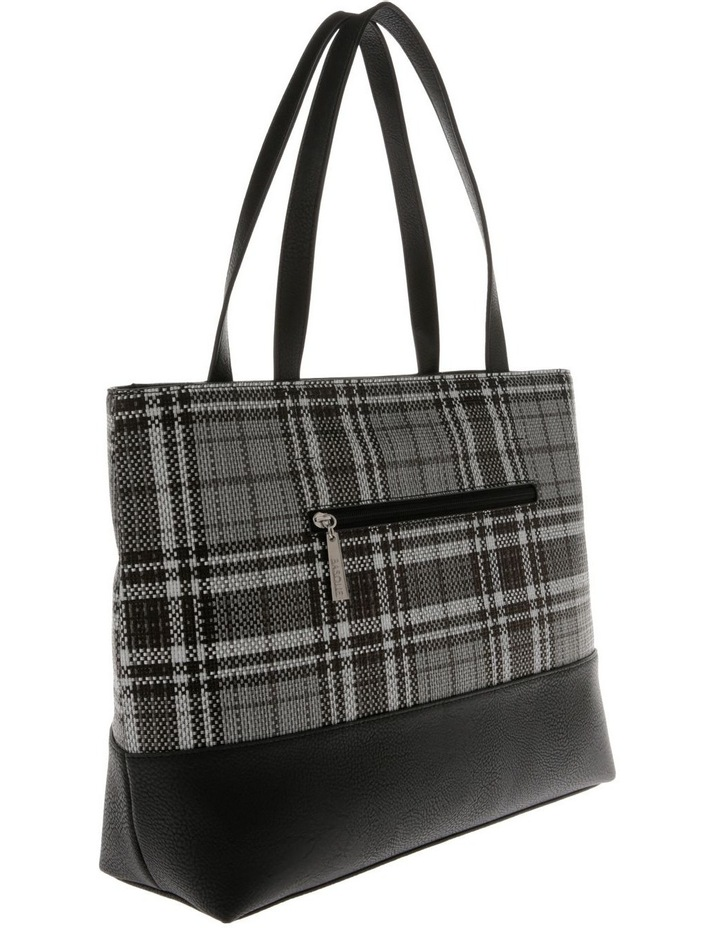 Evie Double Handle Grey Tote Bag image 2
