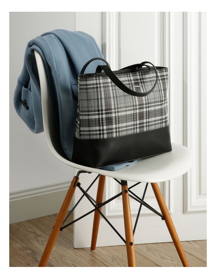 Evie Double Handle Grey Tote Bag image 5