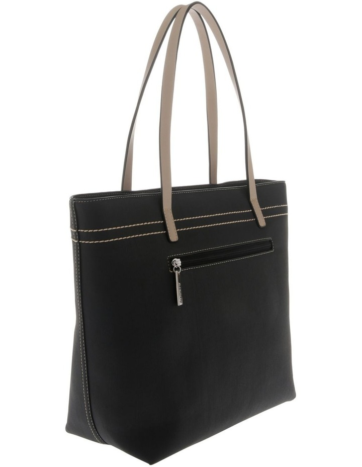 Cathy Double Handle Black Tote Bag image 2