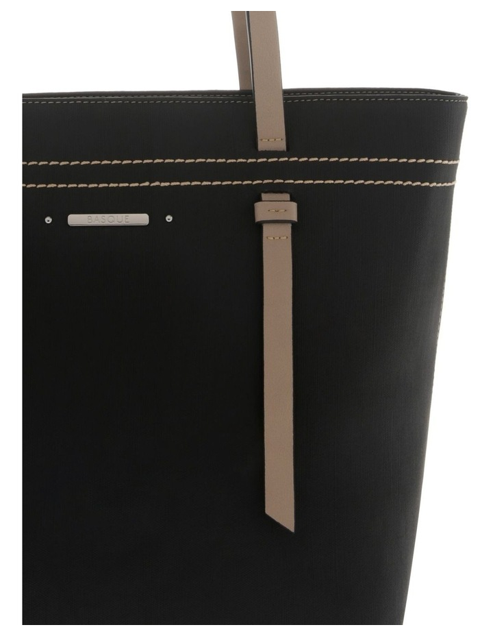 Cathy Double Handle Black Tote Bag image 3