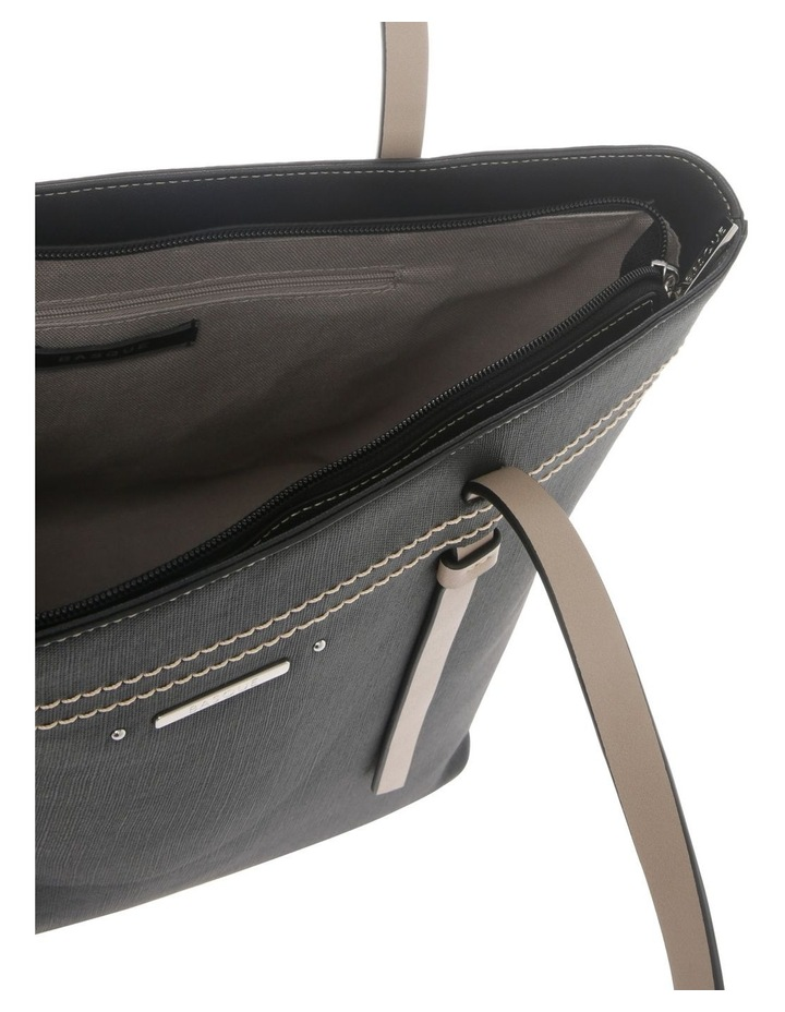 Cathy Double Handle Black Tote Bag image 4