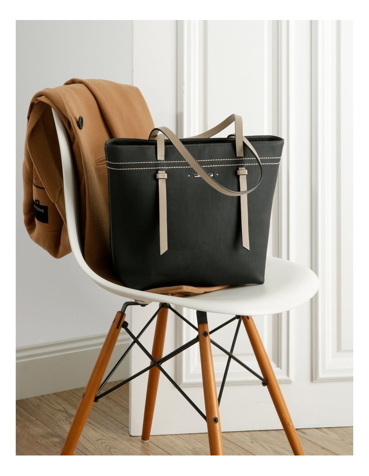 Cathy Double Handle Black Tote Bag image 5