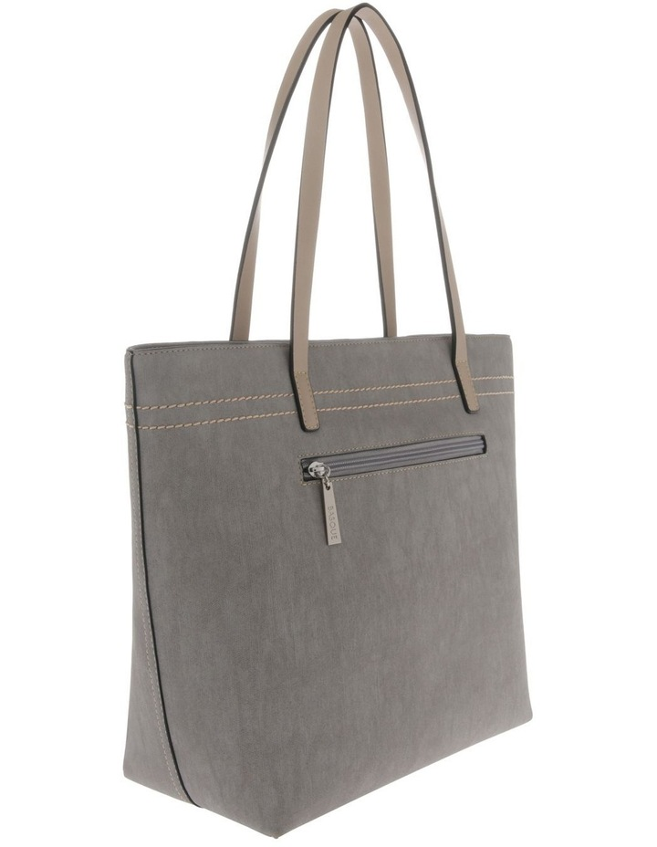 Cathy Double Handle Grey Tote Bag image 2
