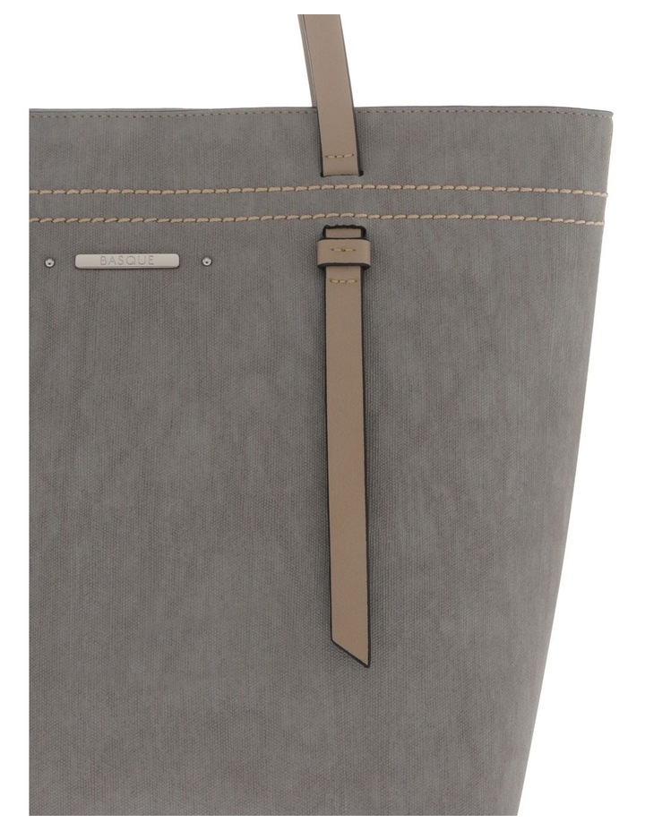 Cathy Double Handle Grey Tote Bag image 3