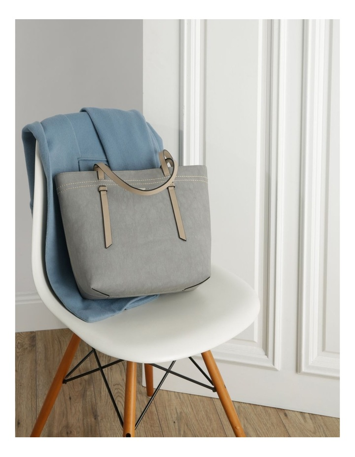 Cathy Double Handle Grey Tote Bag image 5