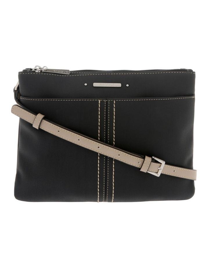 Cathy Zip Top Black Crossbody Bag image 1