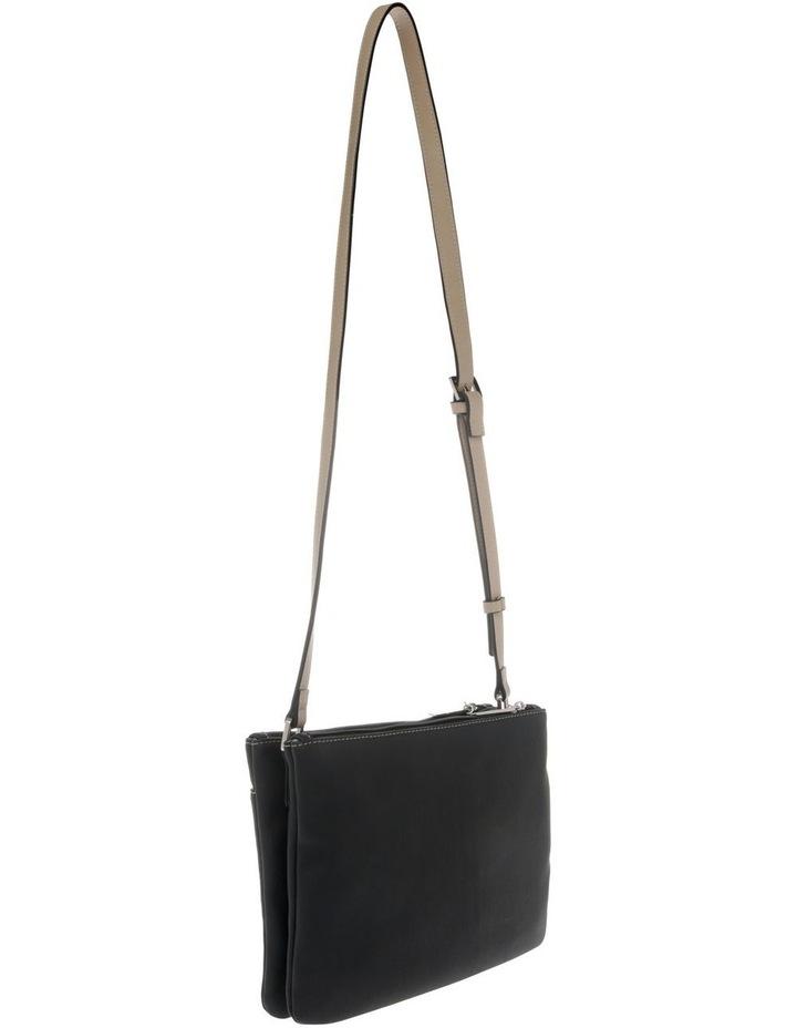 Cathy Zip Top Black Crossbody Bag image 2