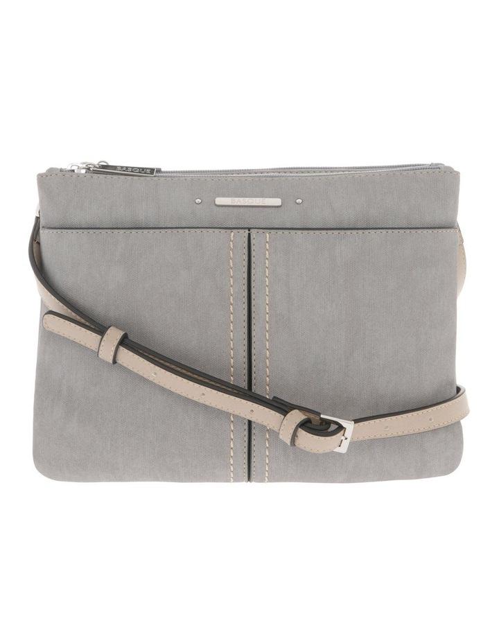 Cathy Zip Top Grey Crossbody Bag image 1