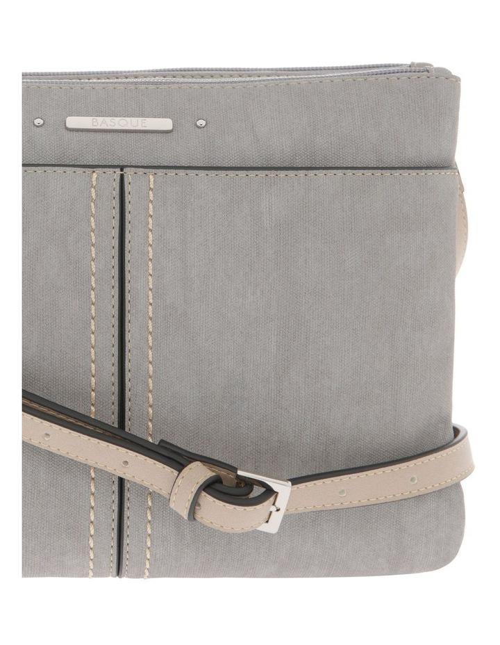 Cathy Zip Top Grey Crossbody Bag image 3