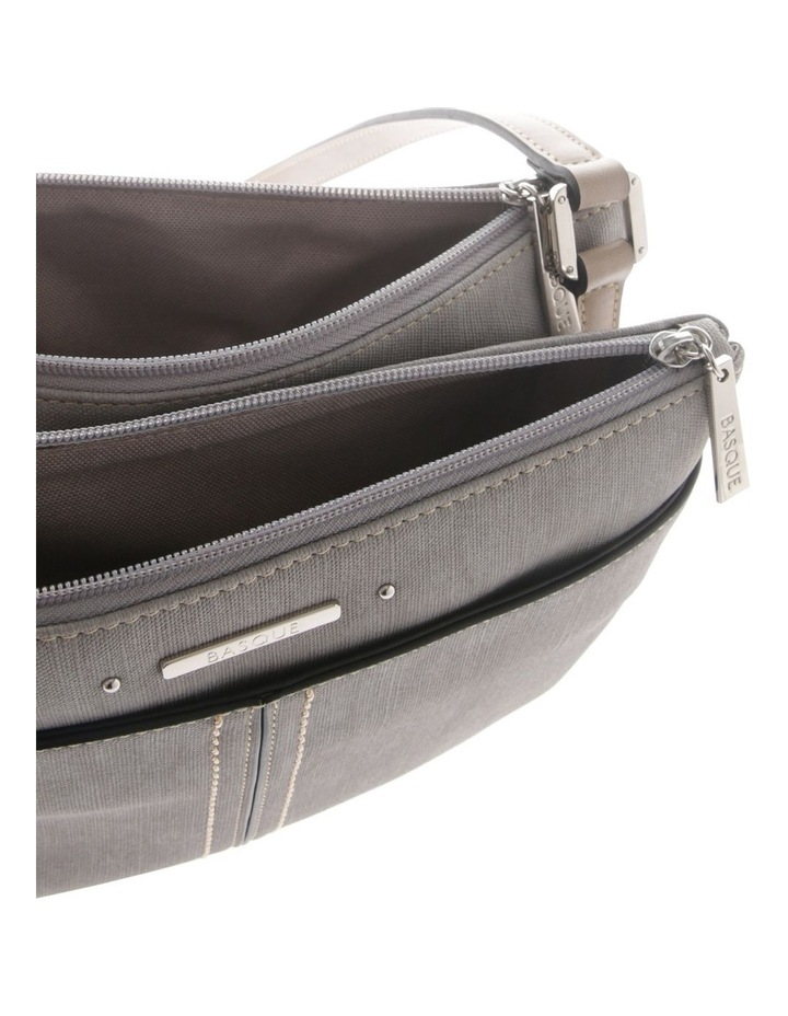 Cathy Zip Top Grey Crossbody Bag image 4