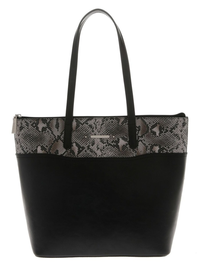 Julie Black Double-Handle Tote Bag image 1
