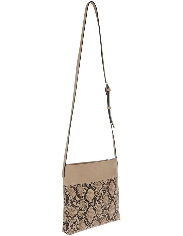 Julie Zip Top Taupe Crossbody Bag image 2