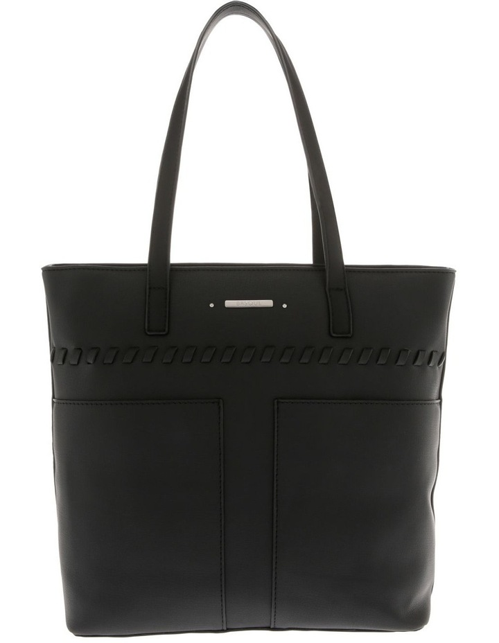 Jodie Double Handle Black Tote Bag image 1