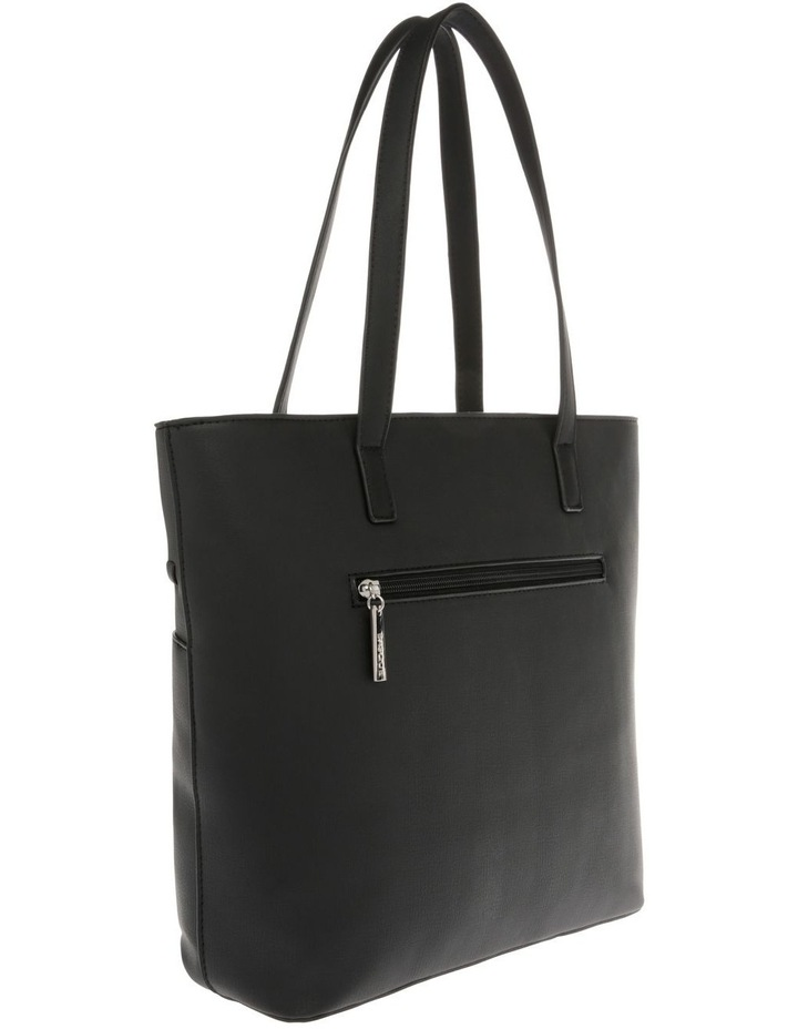 Jodie Double Handle Black Tote Bag image 2