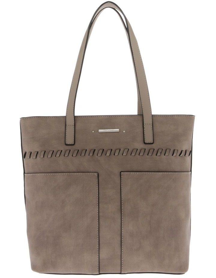 Jodie Double Handle Taupe Tote Bag image 1