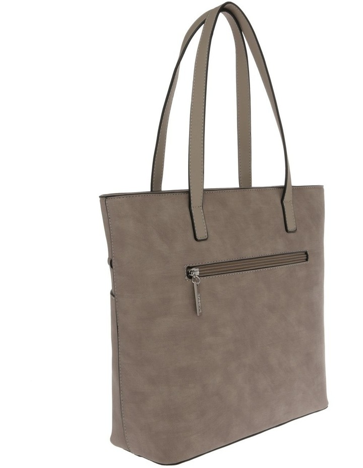 Jodie Double Handle Taupe Tote Bag image 2