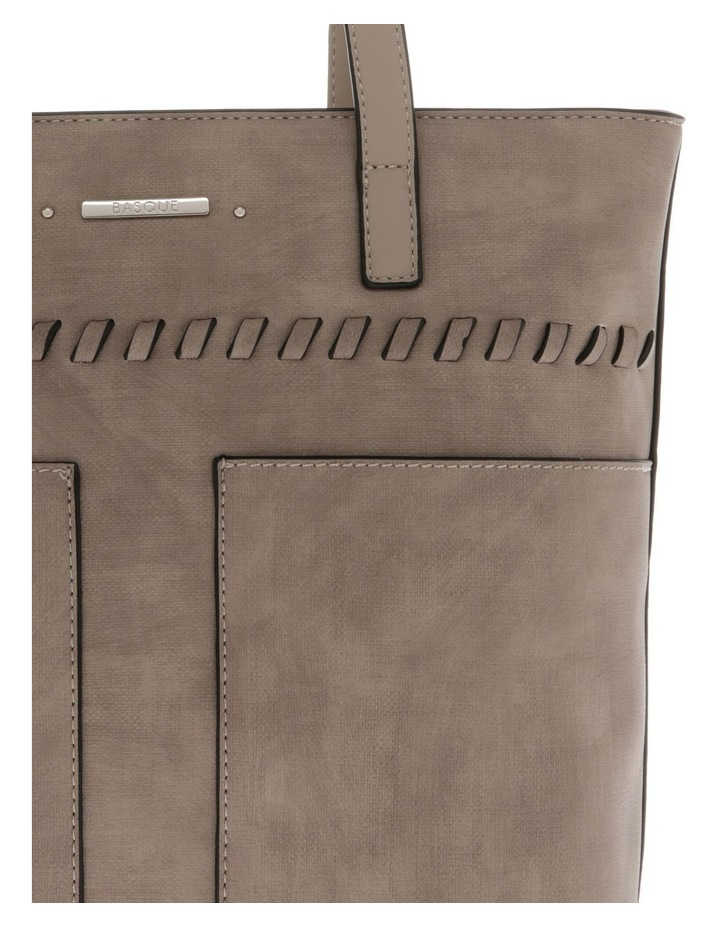 Jodie Double Handle Taupe Tote Bag image 3