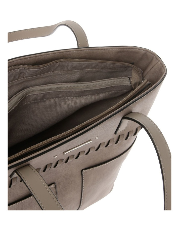 Jodie Double Handle Taupe Tote Bag image 4