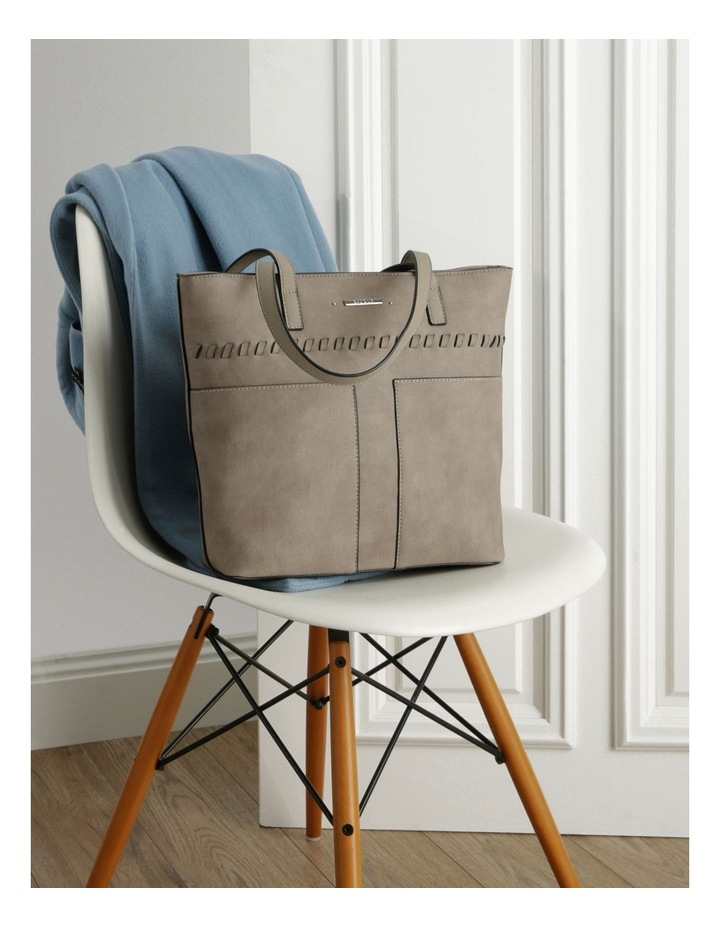 Jodie Double Handle Taupe Tote Bag image 5