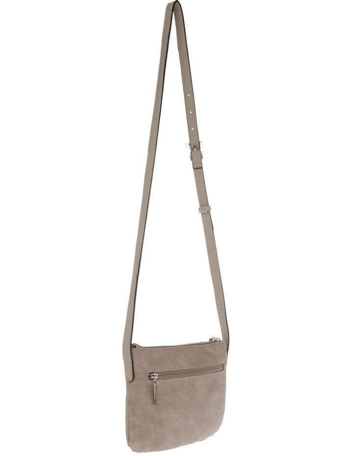 Jodie Zip Top Taupe Crossbody Bag image 2