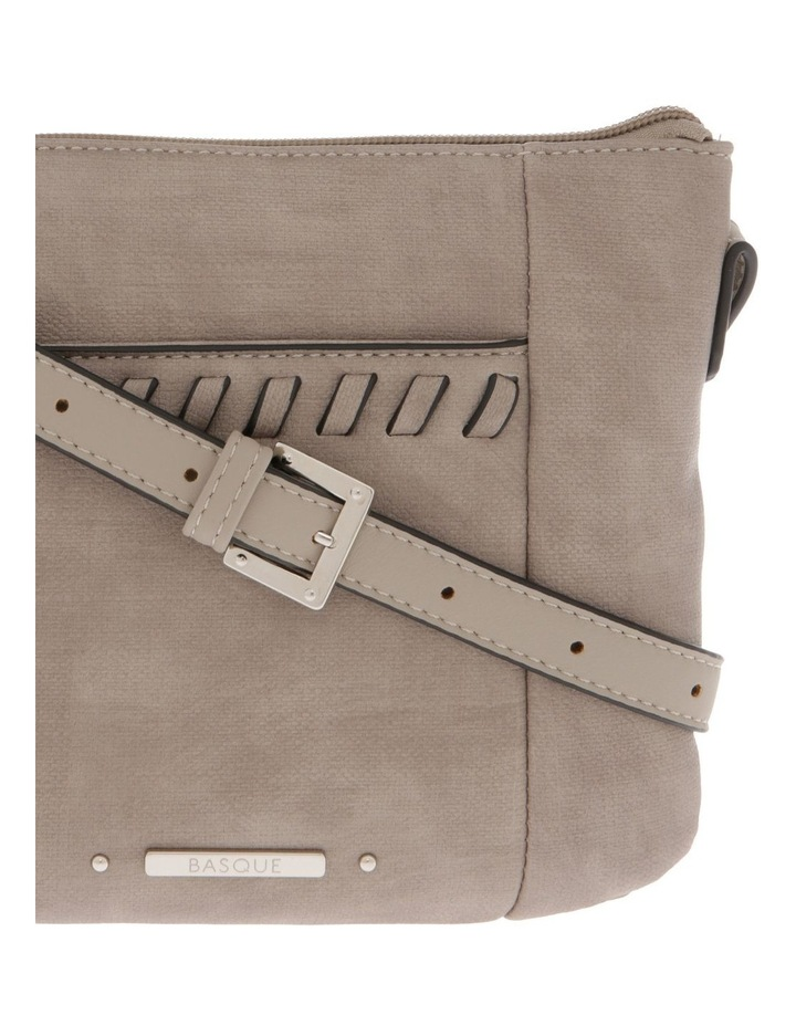 Jodie Zip Top Taupe Crossbody Bag image 3