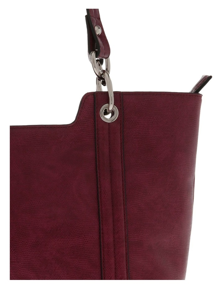 Lizard Red Double-Handle Tote Bag image 3