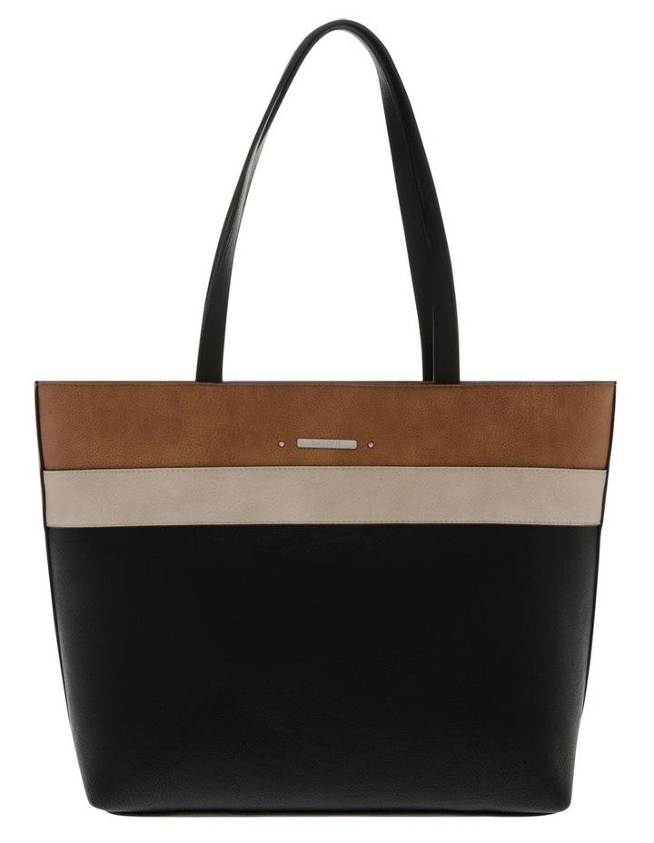 Amy Double Handle Black Tote Bag image 1
