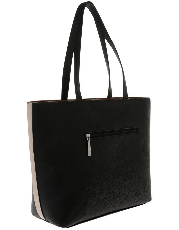 Amy Double Handle Black Tote Bag image 2