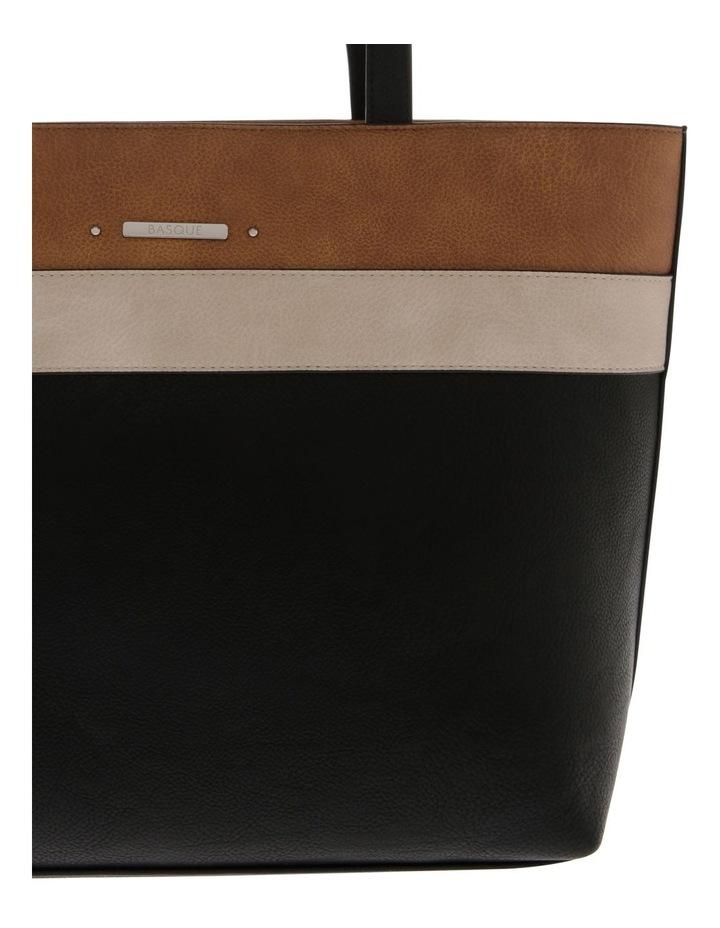Amy Double Handle Black Tote Bag image 3